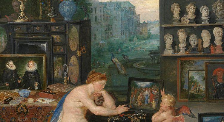 Peter Paul Rubens and Jan Breughel, The Allegory of Sight (1617-18) Art historian Erwin Panofsky Art historian Linda Nochlin Mark Tansey, The Innocent Eye Test (1981) Hong Hao, from Selected Scripture series (begun 1990)
