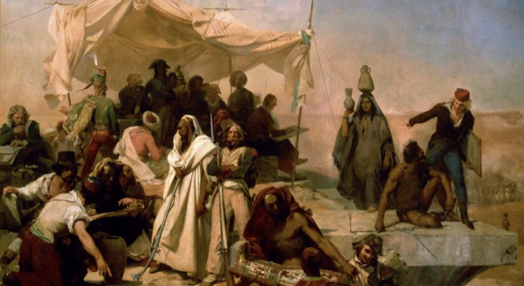Painting of an ancient gathering